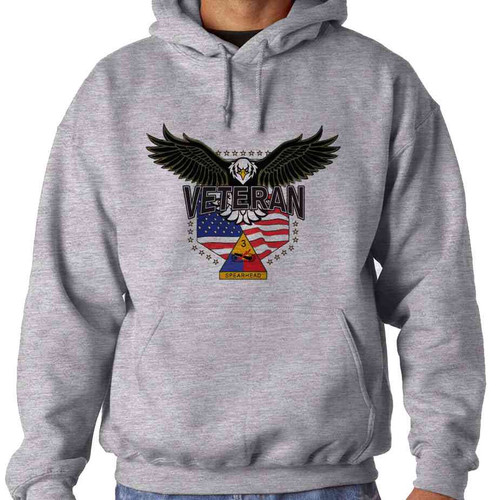 3rd armored division w eagle hooded sweatshirt