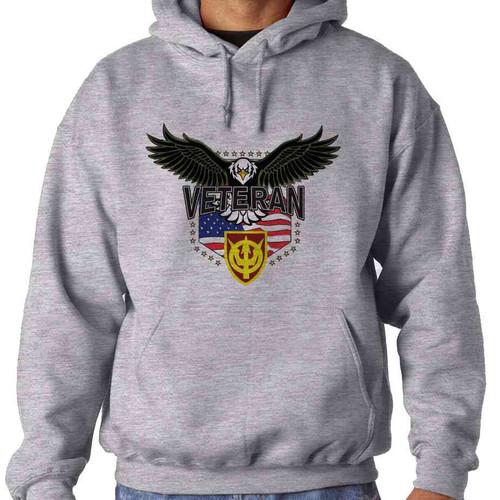 4th transportation command w eagle hooded sweatshirt