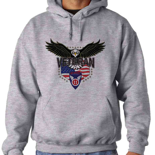 11th airborne division w eagle hooded sweatshirt