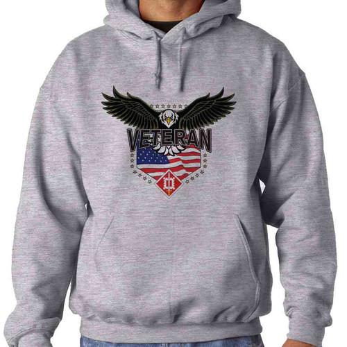 18th engineer brigade w eagle hooded sweatshirt