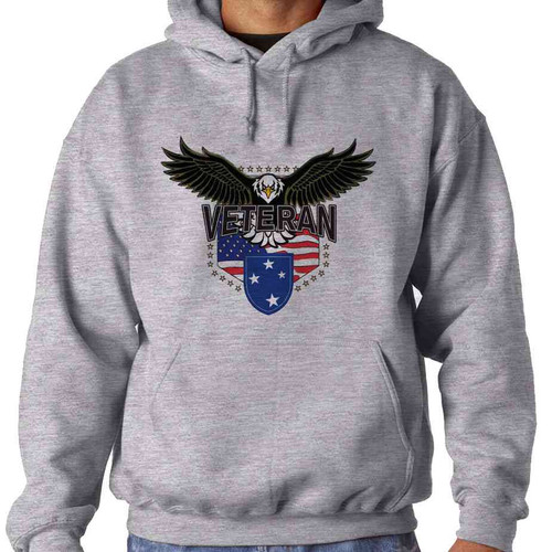 23rd infantry division w eagle hooded sweatshirt