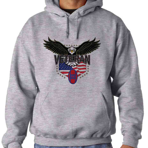 30th infantry division w eagle hooded sweatshirt