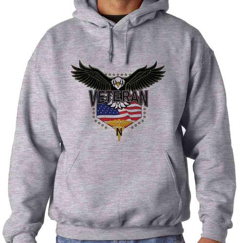 army nurses corps w eagle hooded sweatshirt