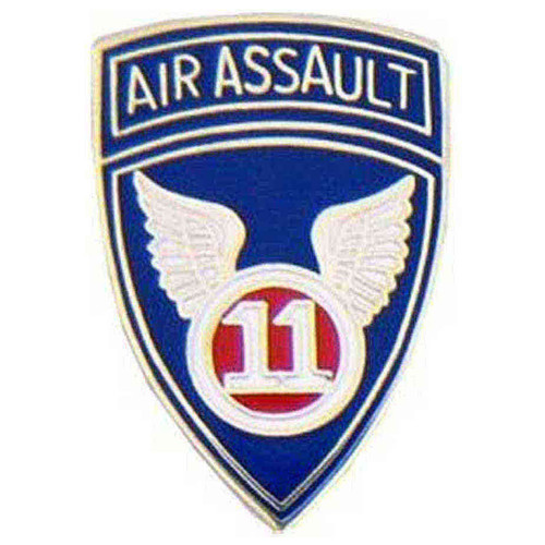 army 11th assault hat lapel pin