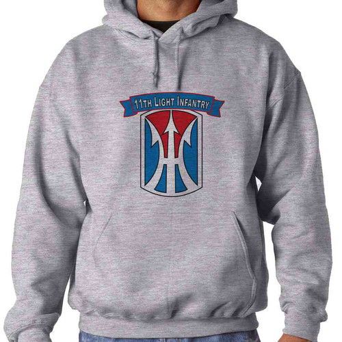 11th light infantry brigade hooded sweatshirt