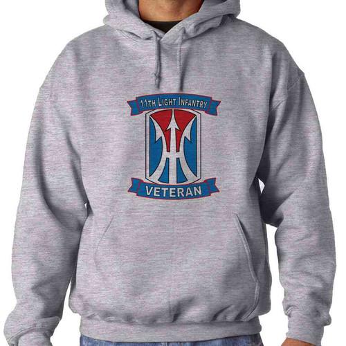 11th light infantry brigade veteran hooded sweatshirt