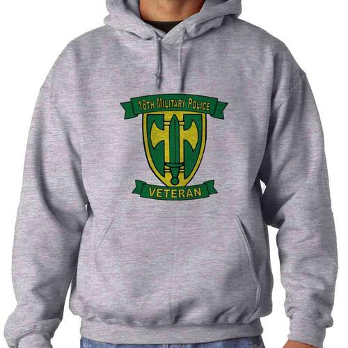 18th military police brigade veteran hooded sweatshirt