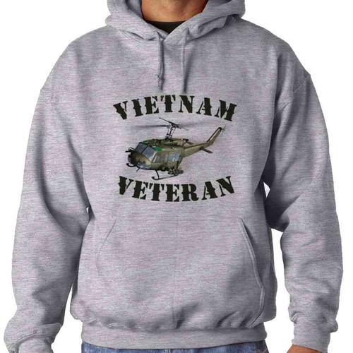 vietnam veteran uh1 huey helicopter hoodie sweatshirt