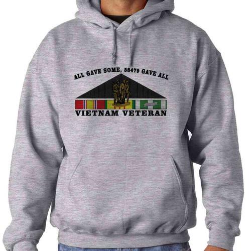 vietnam veteran all gave some 58479 gave all hooded sweatshirt