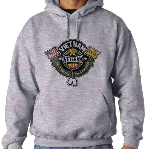 once strangers forever brothers hooded sweatshirt