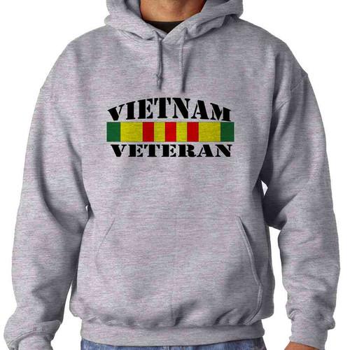 vietnam veteran ribbon hooded sweatshirt