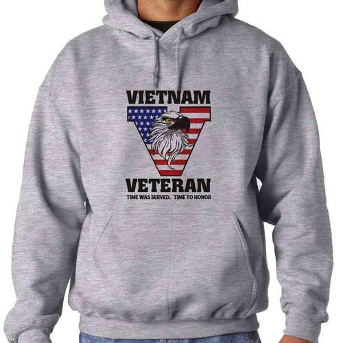 vietnam veteran time served hooded sweatshirt