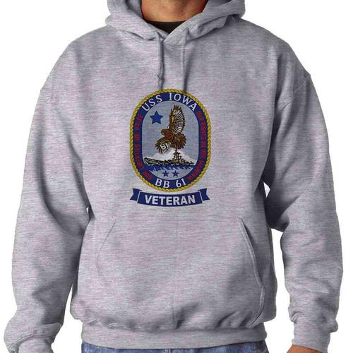 uss iowa veteran hooded sweatshirt