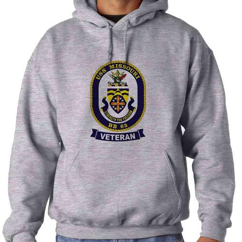 uss missouri veteran hooded sweatshirt