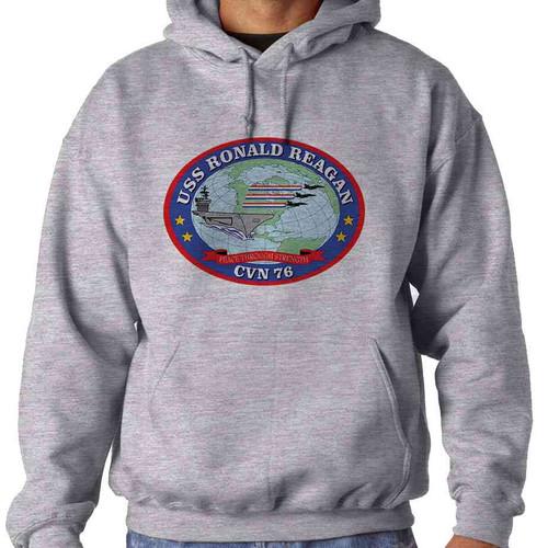 uss ronald reagan hooded sweatshirt