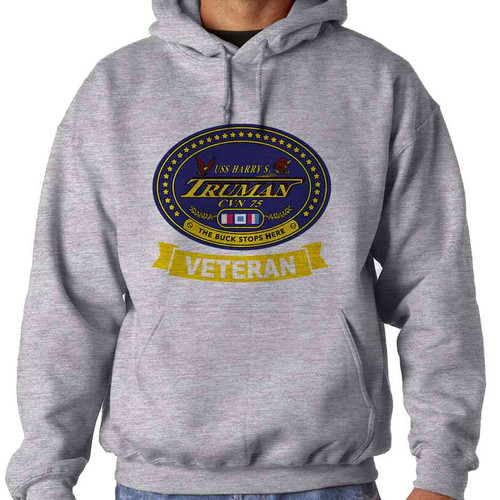 uss harrytruman veteran hooded sweatshirt