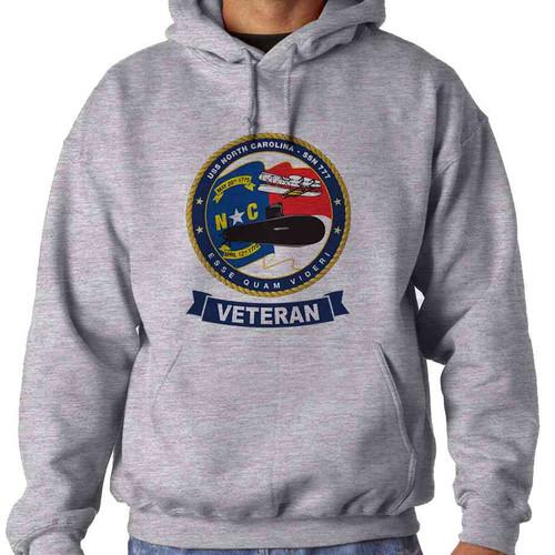 uss north carolina veteran hooded sweatshirt