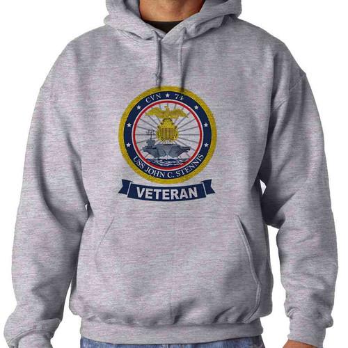 uss john c stennis veteran hooded sweatshirt
