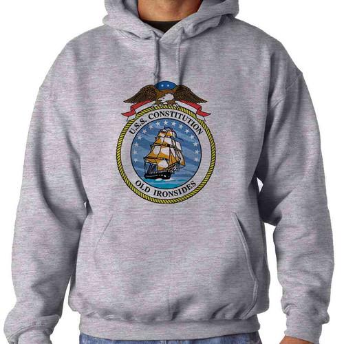 uss constitution hooded sweatshirt