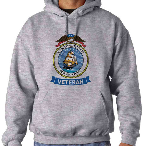 uss constitution veteran hooded sweatshirt