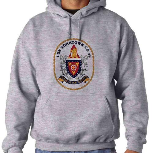 uss yorktown hooded sweatshirt
