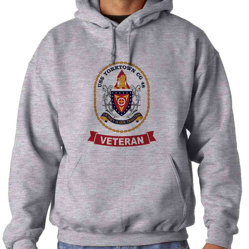 uss yorktown veteran hooded sweatshirt