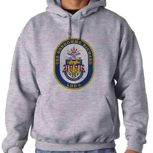 uss bonhomme richard hooded sweatshirt