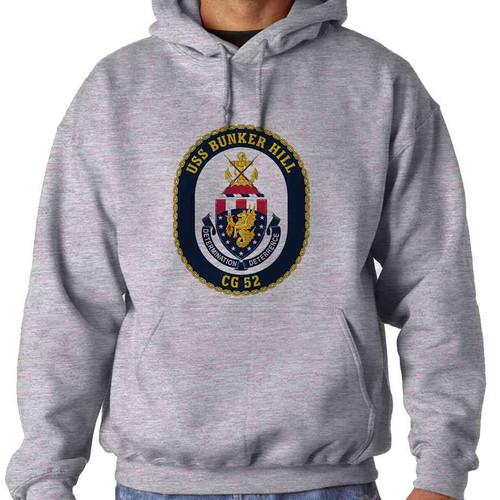 uss bunker hill hooded sweatshirt