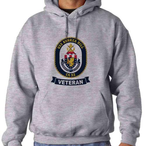 uss bunker hill veteran hooded sweatshirt