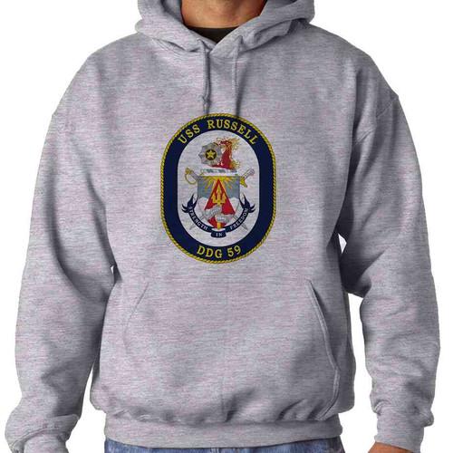 uss russell hooded sweatshirt