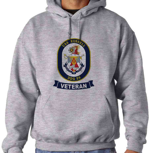 uss russell veteran hooded sweatshirt