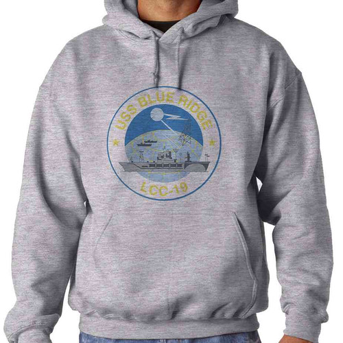 uss blue ridge hooded sweatshirt