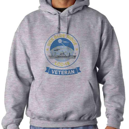 uss blue ridge veteran hooded sweatshirt
