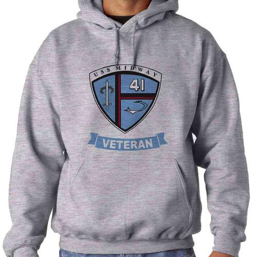 uss midway veteran hooded sweatshirt