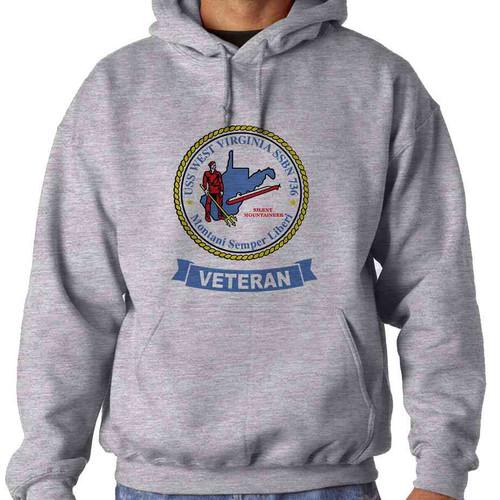 uss west virginia veteran hooded sweatshirt