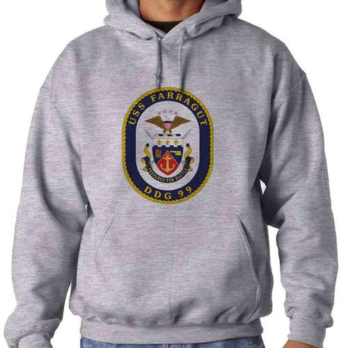 uss farragut hooded sweatshirt
