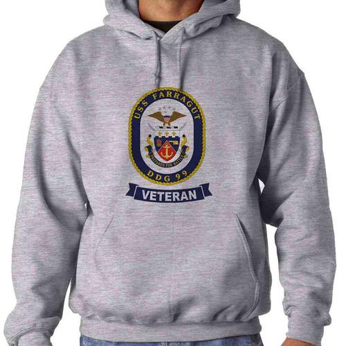 uss farragut veteran hooded sweatshirt