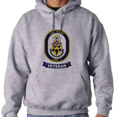 uss wasp veteran hooded sweatshirt