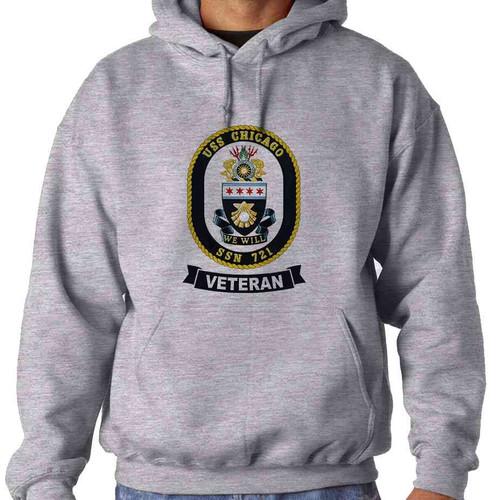 uss chicago veteran hooded sweatshirt