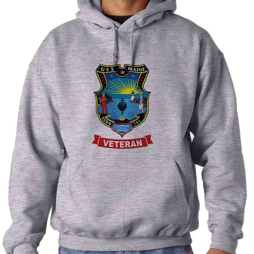 uss maine veteran hooded sweatshirt