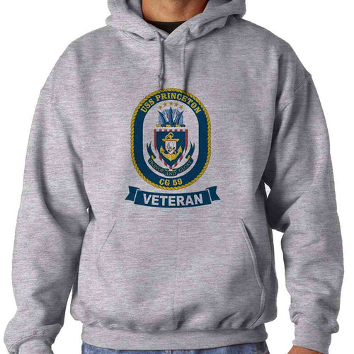 uss princeton veteran hooded sweatshirt