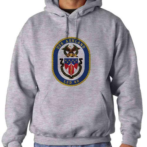 uss ashland hooded sweatshirt