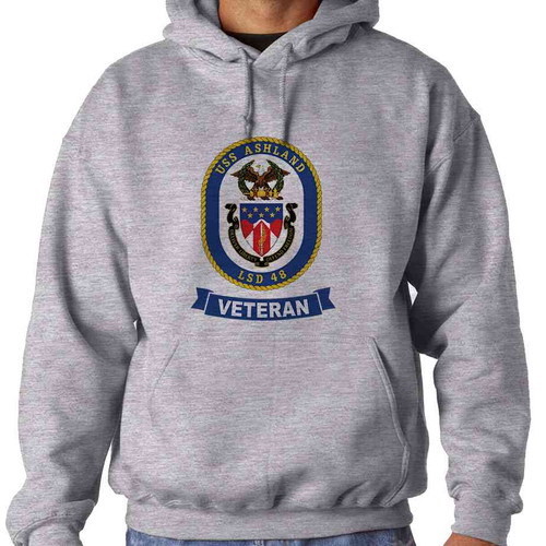 uss ashland veteran hooded sweatshirt