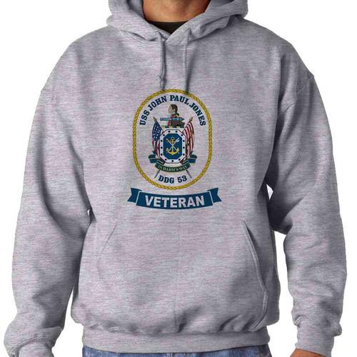 uss john paul jones veteran hooded sweatshirt