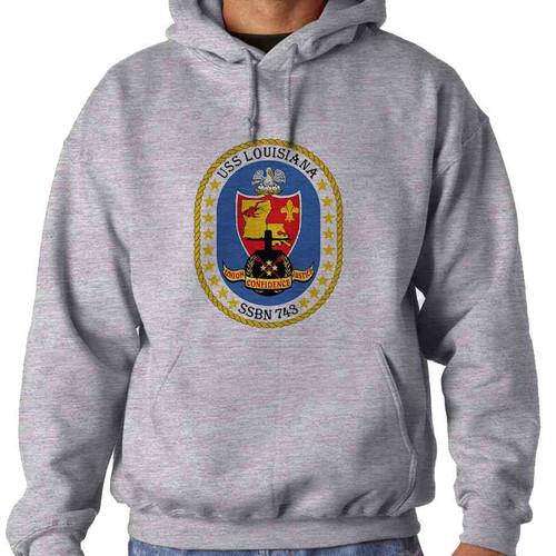 uss louisiana hooded sweatshirt