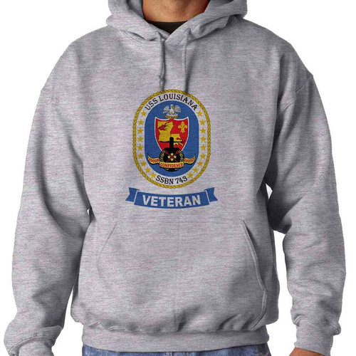 uss louisiana veteran hooded sweatshirt