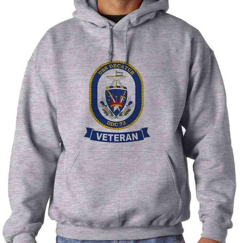 uss decatur veteran hooded sweatshirt