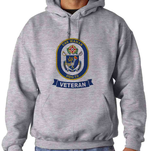 uss mahan veteran hooded sweatshirt