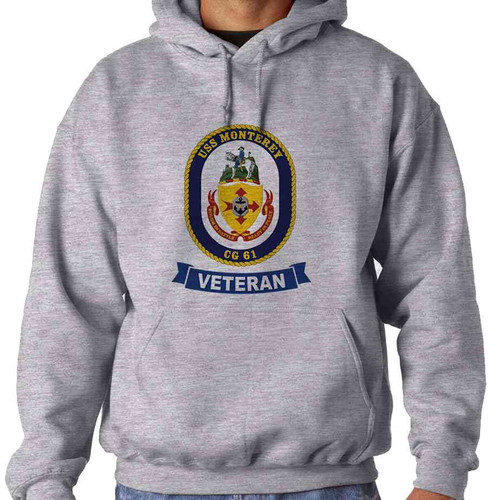 uss monterey veteran hooded sweatshirt
