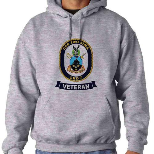 uss iwo jima veteran hooded sweatshirt
